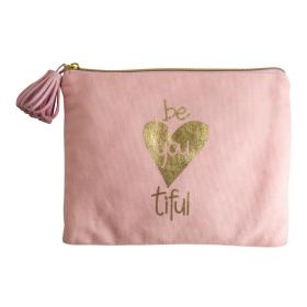"Mea-Living Kosmetiktasche ""be you tiful"" Golddruck"