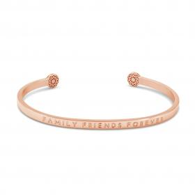 "Armreif ""Family Friends Forever"" Rosegold"